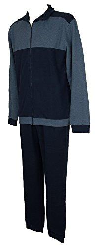 Ragno sport pigiama uomo in pile morbido e caldo manica lunga aperto con zip articolo n24832