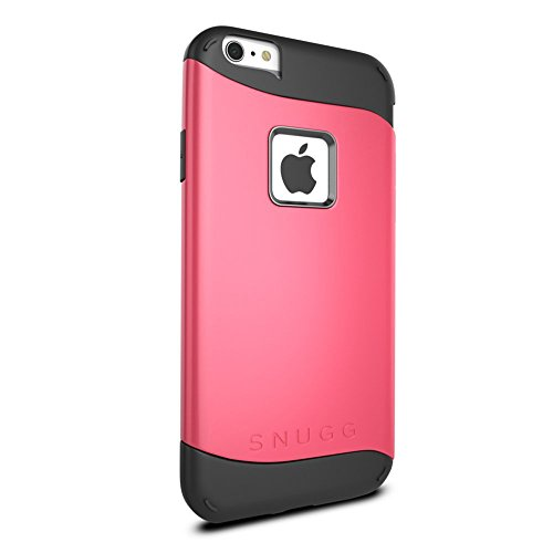 Cover iPhone 6 Plus / 6s Plus, Snugg Apple iPhone 6 Plus / 6s Plus Custodia Case [Scudo Sottile] Protettiva Per Pelle – Grigio, Infinity Series Coral Red