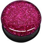 boucles-doreille-piercing-acrylique-tunnel-noir-kristal-epoxy-glitter-pink-glitter-a-vis-8-mm