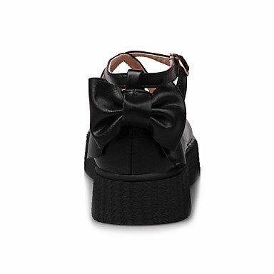 Confortevole ed elegante piatto scarpe donna Appartamenti Primavera Estate Autunno Inverno altri PU Office & Carriera Abbigliamento Sportivo tacco piatto Bowknot fibbia nera Beige rosa beige