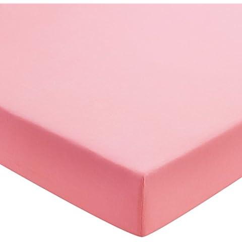 Helena Springfield Plain Dye percalle 50/lenzuolo con angoli elasticizzati, super