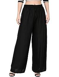 EPILOG Women's Rayon Plain Colour Palazzo Pant | women palazzo pants | rayon palazzo | black palazzo pants | Free Size |