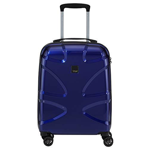 TITAN Trolley X2 with 4 wheels Size S in midnight blue Valise, 55 cm, 38 liters, Bleu (Midnight Blue)