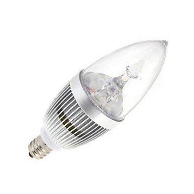 FDH 1pcs E14 12W 5 LED de alta potencia 120LM 6000-6500K lámparas de vela blanca fría AC 85-245V