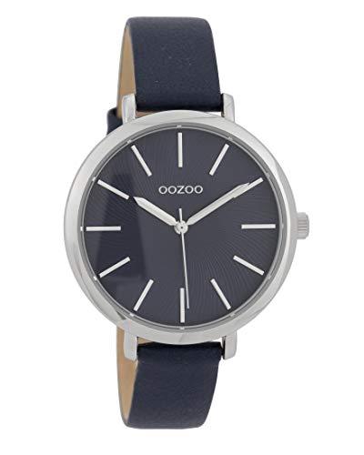 Oozoo Damenuhr mit Struktur Zifferblatt und Lederband 38 mm