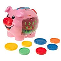 Fisher-Price Laugh & Learn: Learning Piggy Bank With 10 Colorful Coins