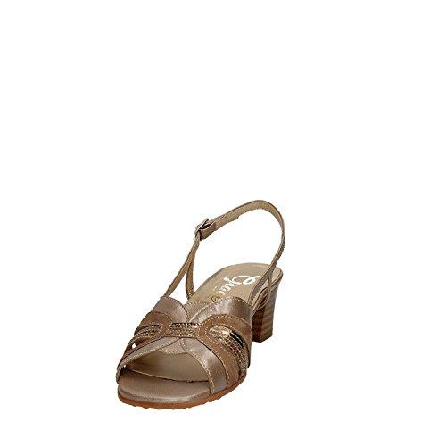GRACE SHOES E5080T Sandalo tacco Donna Marrone
