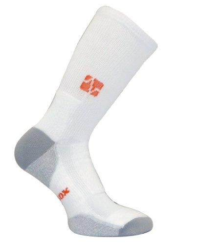 VitalSox Tennis Extra Polsterung drystat Kompression Kalb Länge Socken vt0313t, herren, weiß, Small (Länge Mitte Kalb Socken)