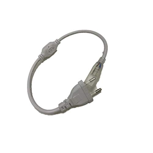Wasserdicht Zweireihige IP65 LED Band LED-Stripe 10m LED LEDs (60 LEDs/Meter) viel heller als normale Lichtband (Stecker (für Zweireihige 220V 2835 LED-Strip))[Energieklasse A++]
