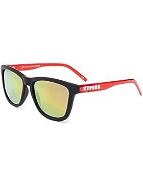 Kypers Caipirinha, Gafas de Sol Unisex, Matte Black-Red Mirror, 54