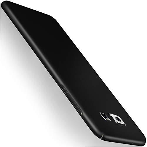 moex Samsung Galaxy S7   Hülle Schwarz Alpha Back-Cover TPU Schutzhülle Dünn Handyhülle für Samsung Galaxy S7 Case Ultra-Slim Thin Skin Handy Schutz Rückseite