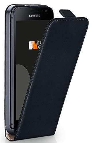 moex® Flip Case mit Magnetverschluss [Rundum-Schutz] passend für Samsung Galaxy Xcover 4 | 360° Handycover aus feinem Premium Kunst-Leder, Schwarz