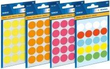 1831 Vielzwecketiketten farbig sortiert Ø 8 mm rund Papier matt 540 St. Vielzwecketiketten zum Markieren und Organisieren. Selbstklebende Etiketten aus hochwertigem Schreibpapier. Etiketten und Trägerpapier auschlorfrei gebleichtem Zellstoff, Kleber lösemittelfrei. Zum Beschriften mit allen Schreibgeräten und Schreibmaschinen.