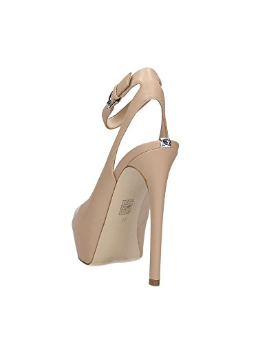 SCARPE DONNA GUESS DECOLLETÉ ELINIE OPEN TOE TC 120 PL 30 PELLE NERO DS17GU61 Beige