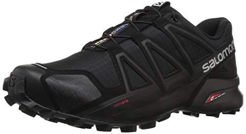 Salomon Speedcross 4, Scarpe da Trail Running Uomo, Nero (Black Metallic), 49 1/3 EU