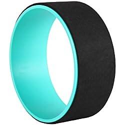 Exerz EXYW-001 Rueda de Yoga roller para el estiramiento, el equilibrio, el aumento de la flexibilidad y la mejora de backbends - Negro