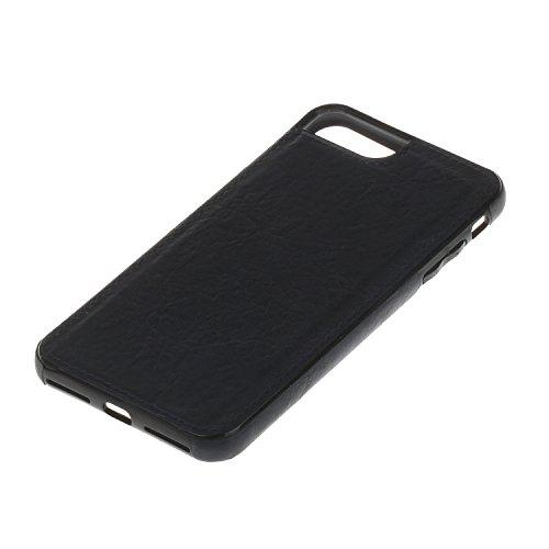 Pelle Custodia Cover per iPhone 7/8 plus Case ,Ukayfe Ultra Slim Casa Custodia (back cover) rivestita in pelle pieno per iPhone 7/8 plus,Protettiva Custodia Luxury Puro Colore Modello custodia Combo d Blu marino 5#