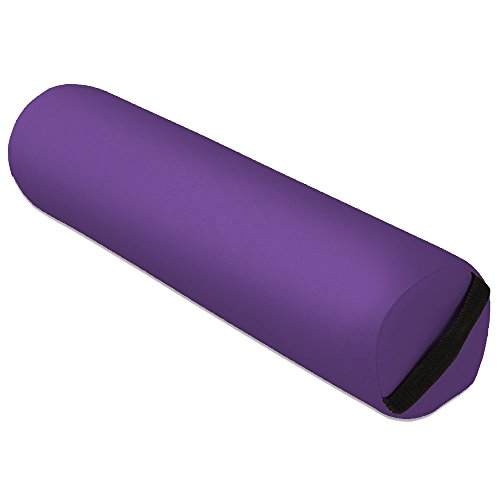 Image of Mari Lifestyle - Purple Full Round Knee Roll Bolster Cushion Pillow Tube for Massage Table
