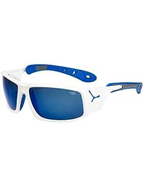 Cébé ICE 8000 - Gafas de sol, Hombre, color Shiny White/Blue 4000 Grey Mineral Flash Blue, tamaño large