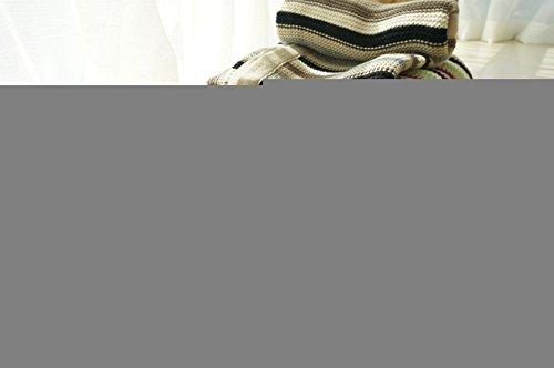 MQZM- Coda di singolo filo di maglia coperta passeggino coperta,grigio-nero