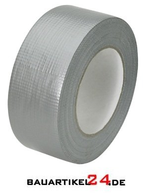 Preisvergleich Produktbild Malerklebeband Abdeckband Klebeband Gewebeklebeband silber 50mm x 50m