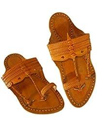 M&N - Men's Leather Kolhapuri Sandal/Chappal/Footwear - Handcrafted Kurundawadi Design