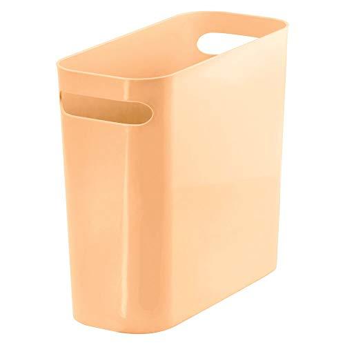 MDesign Cubo de Basura Estrecho con 5,7 litros de Capacidad - Papelera de Oficina en plástico con Asas...