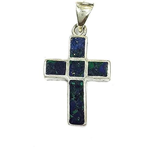 Croce crocifisso King Solomon Eilat Stone argento 925 Handmade Jerusalem 1.1