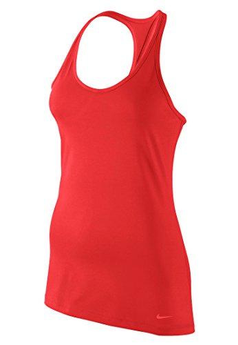 Nike, Canotta Donna Get Fit Rojo (Lt Crimson/Lt Crimson)