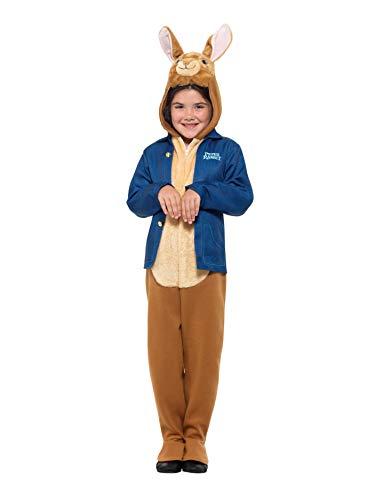 Smiffys SMIFFY 'S 41547M Offizielles Lizenzprodukt Peter Hase Deluxe Kostüm, blau, M-UK Alter - Kinder Peter Hase Kostüm