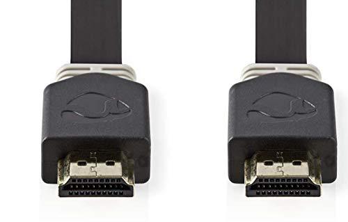 TronicXL Highend Flachkabel HDMI 3D HD 4K Flaches Kabel flach Flat Video 2 m