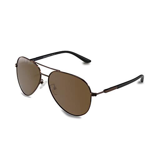 DUCO Premium polarisierte Sonnenbrille Pilotenbrille für Männer und Damen 100% UV-Schutz 3027...