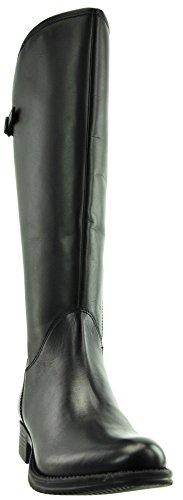 JJ Footwear Bottes Femme en Cuir Crète XXL mollets 49.4cm-57.1cm Noir - Schwarz Cow Nappa