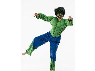 Otros Disfraz de forzudo Verde. 8-10 años.