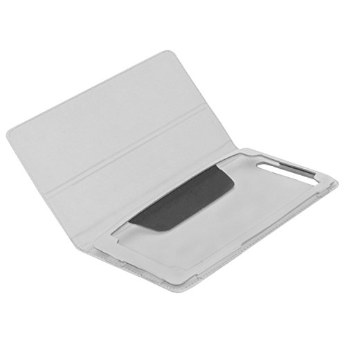 Acm Executive Leather Flip Case For Lenovo Phab Plus Tablet Front & Back Flap Cover Stand Holder White