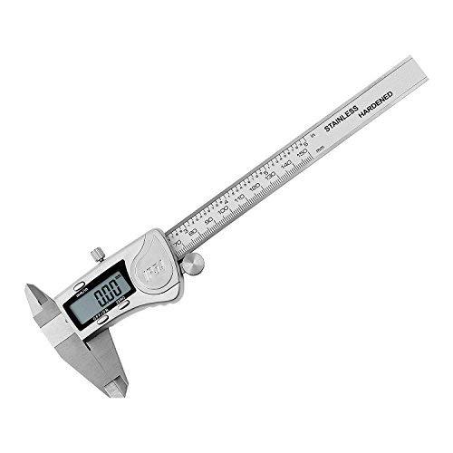 TURATA Digitaler Messschieber IPX54 Wasserdichte Schieblehre Edelstahl 150 mm / 6 Zoll für Abständen, Durchmesser, Tiefenmaß, mit LCD Display Profimessgerät