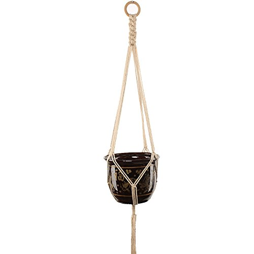 Hanging Rope Basket Handcrafted, YooGer geflochtene Hanger Planter Blumentopf Töpfe Pflanze Typ-9