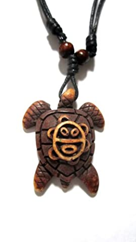 Brown Turtle Necklace with Sol Taino - Turtle Jewelry - Taino Jewelry by Exotic & Trendy Jewelry, Books and More