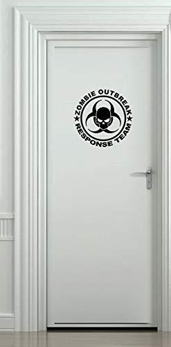 CELYCASY Zombie Outbreak Response Team Türaufkleber Auto Stoßstange Fahrzeug Aufkleber Lustige Humor Ziegel Boot Wand Laptop Ipad Fenster -