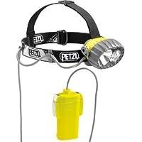 Petzl Duobelt LED 5 - Linterna (Linterna con cinta para cabeza, Negro, Gris, Amarillo, IPX8, 2 lámpara(s), LED/Halógeno, 40 lm)