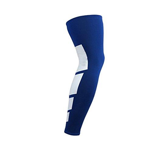 Sitz Grad 1 Polster (Knieschützer Kompression Long Leg Sleeve Schutz Gear Knieschützer Antislip Basketball Knieschutz Blau XL=US L)