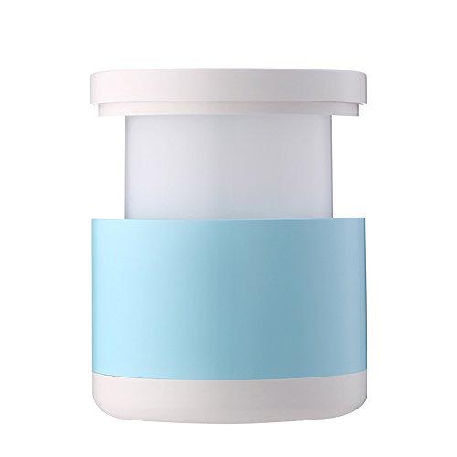 Lumière de nuit télescopique usb charge softlight pull-ligne LED apprentissage moderne lecture blanc intelligent lampe portative chambre d'économie d'énergie lampe de chevet (Color : Blue)