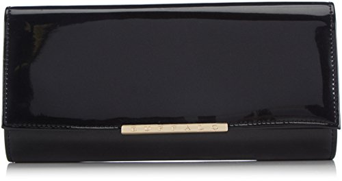 Buffalo BAG BWG-05 PU PAT MET K252-401 - Pochette da giorno Donna, Nero (BLACK 01), 4x13x25 cm (B x H x T)