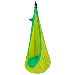 LA SIESTA - Joki Froggy - Organic Cotton Kids Hanging Nest Bean Bag with Integrated Suspension   6