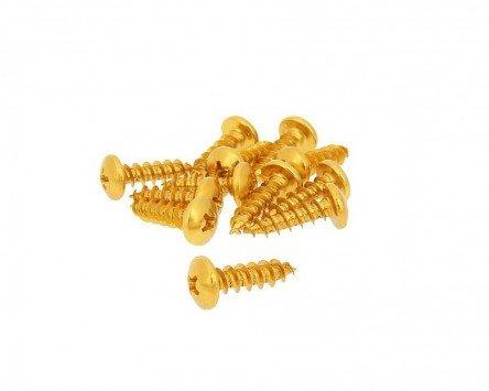 Schraubensatz 12 Stück Verkleidung - M6 20mm gold