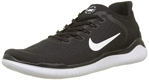 best loved 98744 1c86f Nike Free RN 2018 Chaussures de Running Homme, Noir (Black White 001)