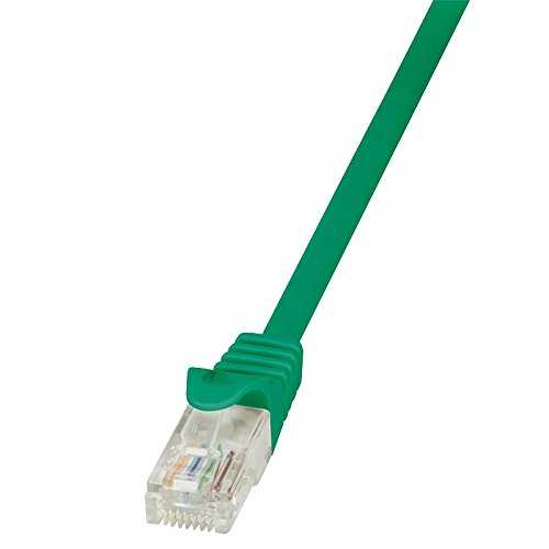 Preisvergleich Produktbild LogiLink CP1025U CAT5e UTP Patch Kabel AWG26 grün 0, 50m