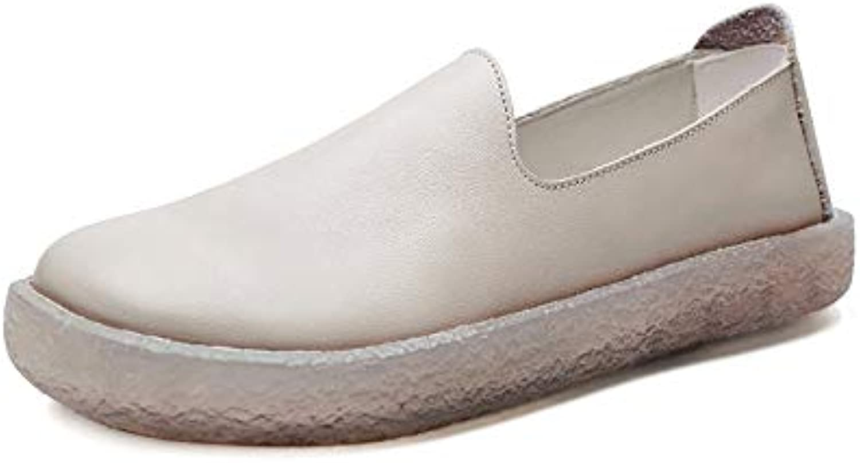 AIMENGA Zapatos Planos Otoño Zapatos De Mujer Nuevos Zapatos De Fondo Blando Zapatos Planos, Beige, Cuarenta Y...
