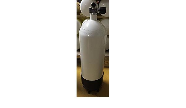 Tauchflasche 10 Liter 300bar 178mm komplett mit Ventil und Standfuß