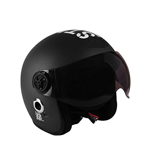 O2 Open Face Matte Black Star1969 with Poly Carbonate Tinted Visor